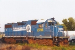 Sunset view of older Conrail unit